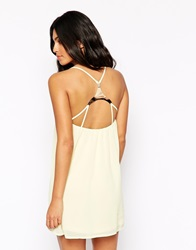Oh My Love Cami Dress With Gold Bar Back Yellow