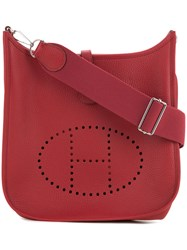 Hermes Vintage Evelyne Pm Shoulder Bag Red