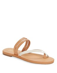 Seychelles Starlet Leather Double Strap Thong Sandals Tan