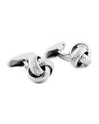 Ermenegildo Zegna Herringbone Knotted Sterling Silver Cuff Links