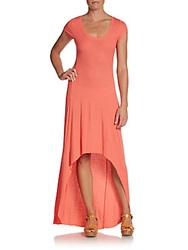 Bcbgmaxazria Hi Lo Maxi Dress Coral