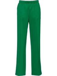 Prada Straight Leg Track Pants Green