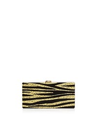 Milly Zebra Box Clutch Multi Gold