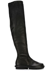 Trippen Thigh High Boots Black