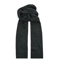 Dolce And Gabbana Knitted Marl Wool Scarf Unisex Grey