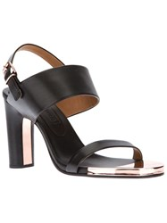 Veronique Branquinho Metal Detail Sandal Black