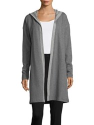 Lord And Taylor Open Front Lounge Hoodie Dark Heather