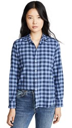 Frank And Eileen Button Down Sky Blue Navy Flannel