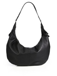 The Row Sling Hobo Bag With Tassels Black