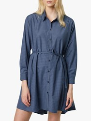 French Connection Mattia Check Cotton Dress Blue
