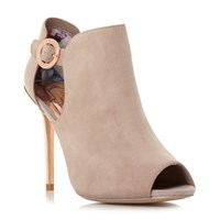 Ted Baker Sandrouse Open Toe Ankle Boots Mink