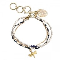 A Beautiful Story Dragonfly Lapislazuli Bracelet