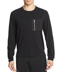 Ovadia And Sons Satin Zip Pocket Tee Black