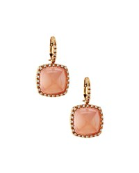 Lc Estate Jewelry Collection Estate Favero 18K Rose Gold Pink Quartz And Diamond Drop Earrings