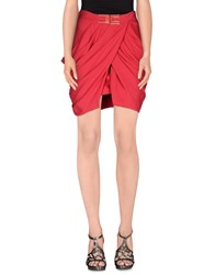 Elisabetta Franchi Gold Skirts Mini Skirts Women Red