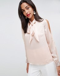 Coast Sequin Cuff Blouse Pink