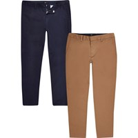 River Island Big And Tall Chino Trousers 2 Pack