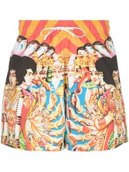 Amiri Graphic Print Swim Shorts 60