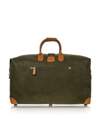 Bric's Life Olive Green Micro Suede 22 Duffle Bag