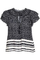 Love Sam Woman Printed Crepe Blouse Black
