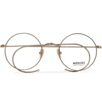 Moscot Hamish Round Frame Gold Tone Optical Glasses Gold