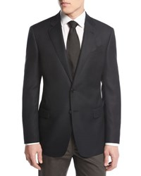 Giorgio Armani Soft Basic Two Button Sport Coat Black