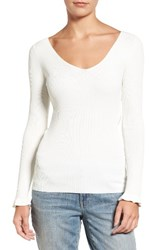 Chelsea 28 Women's Chelsea28 Ribbed V Neck Sweater