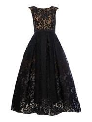 Js Collections All Over Lace Gown With High Low Hem Black