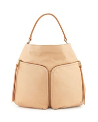 Christopher Kon Double Front Pocket Hobo Bag Sand