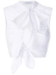 Vivetta Triple Bow Top White