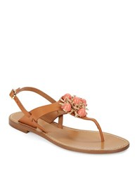 Aerin Vaccaro Jeweled Sandals Natural