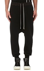 Rick Owens Drkshdw Men's Cotton Fleece Prisoner Sweatpants Black