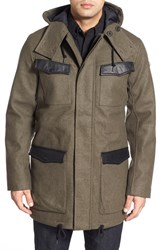Men's Victorinox Swiss Army 'Gallen' Hooded Longline Coat