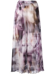 Ermanno Gallamini Printed Palazzo Pants Women Polyester M Pink Purple