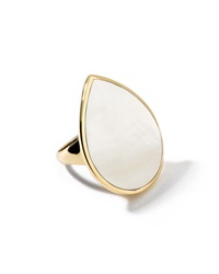 Ippolita 18K Teardrop Rock Candy Mother Of Pearl Ring Gold