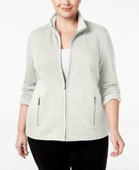 Karen Scott Plus Size Quilted Jacket Only At Macy's Eggshell