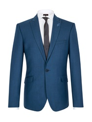 Limehaus Pick And Pick Single Breasted Suit Jacket Blue