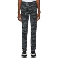 Diesel Black And Grey D Amny Sp1 Jeans