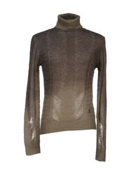Pierre Balmain Knitwear Turtlenecks Men Khaki