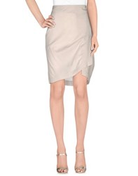 Tru Trussardi Skirts Knee Length Skirts Women Light Grey