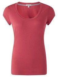 Jigsaw Pima Cotton Blend T Shirt Cherry Pink