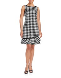 Karl Lagerfeld Tweed Shift Dress Black Ivory