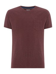 Linea Austin Cotton Crew Neck T Shirt Dark Red