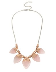 Kenneth Cole Salt Mines Rose Quartz And Metal Collar Necklace Mixed Metal