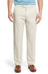 Men's Ballin Regular Fit Flat Front Trousers Oyster