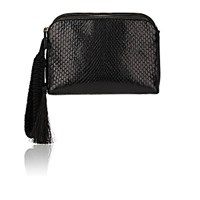 The Row Women's Multi Pouch Python Wristlet Black