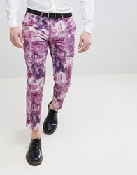 Noose And Monkey Printed Cropped Pants Pink