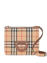 Burberry The Small Vintage Check D Ring Bag Neutrals