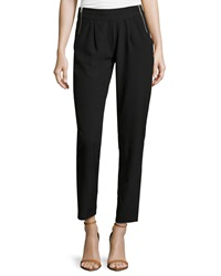 Romeo And Juliet Couture Side Zip Crepe Pants Black