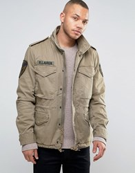 Denim And Supply Ralph Lauren Military M65 Jacket In Green Green